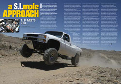 Off-Road Magazine Chevy with I-Beams